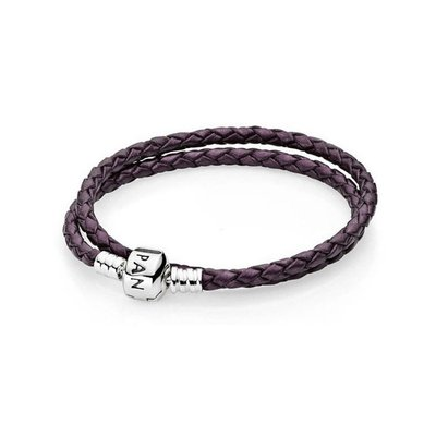 판도라 590705CPE / PANDORA DOUBLE LEATHER BANGLE