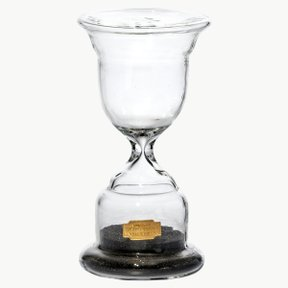 TROPHY SHAPED SANDGLASS Black NO.2