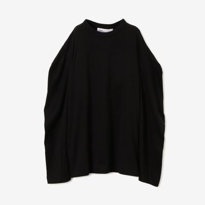 TOGA 토가 SILKET JERSEY LONG SLEEVES BLACK TA92-JK116-E