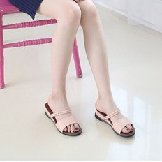 kami et muse Gold ring strap wedge sandals_KM18s394