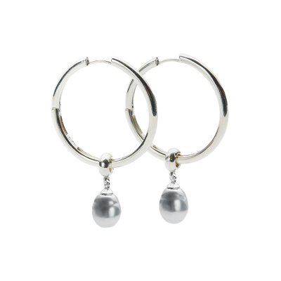 [레이브]Black Pearl Earrings in Silver VX0SX0560