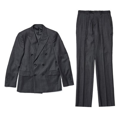 dot pattern double suit _CWFBW18939GYX_CWFCW18939GYX