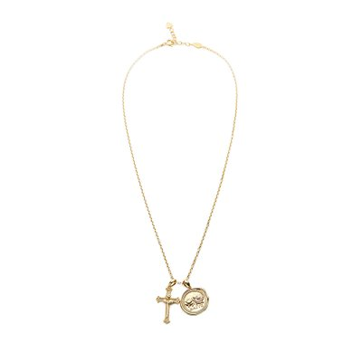 [레이브]Seal Cross Necklace in Gold VX0SX0450
