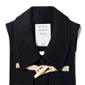 DUFFLE COAT STOLE NAVY
