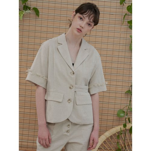 [1159스튜디오] MH6 LINEN WAIST TAPE JACKET_BE