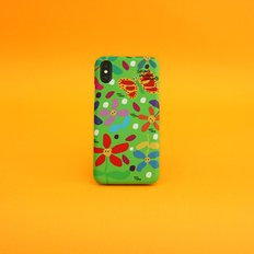 SUN CASE GRAPHIC FLOWER GREEN