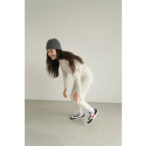 flat OFF WHITE WOOL KNIT JOGGER PANTS