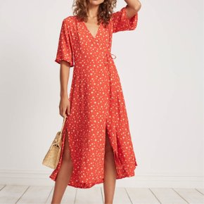 Faithfull The Brand/RIVERA MIDI DRESS_CHERRY