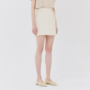 [가브리엘리] 19SS POCKET DETAIL MINI SKIRT WITH BELT - CREAM