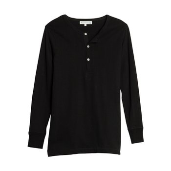 206 HENLEY LONG SLEEVE DEEP BLACK