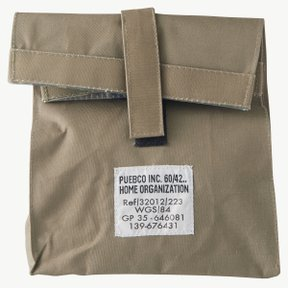 LAMINATED FABRIC LUNCHBOX BAG Olive