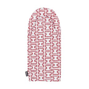 OVEN MITTEN H55, White/Red