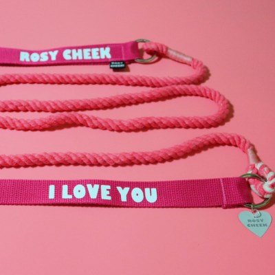 ROSY CHEEK LEASH _ CHERRY