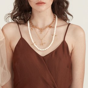 Coral ball Necklace (Silver, Gold)