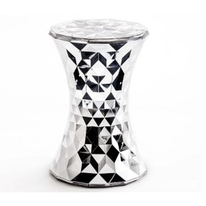Stone Stool Metallic