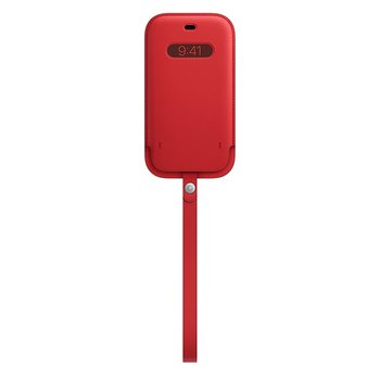 MagSafe형 iPhone 12, 12 Pro 가죽 슬리브 - (PRODUCT)RED(MHYE3FE/A)