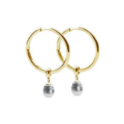 [레이브]Black Pearl Earrings in Gold VX0SX0570