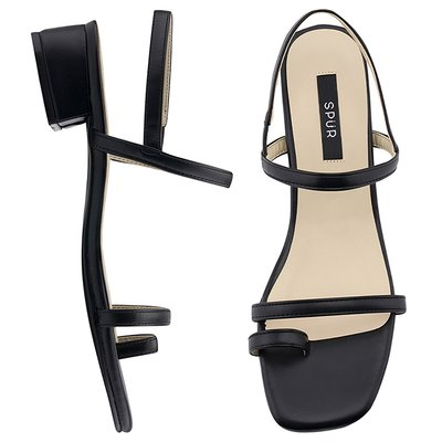 샌들 OS9080 Toe ring simply strap 블랙