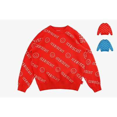 [20% SALE] Icebiscuit smile pullover sweater