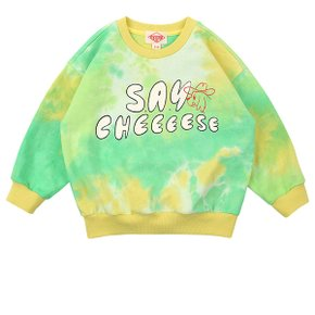 Say cheese tie-dyeing sweatshirt / BP0102342