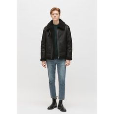 [PLAC] MENS SINGLE ZIPPER SHEARLING JACKET (PWON4LJL59MOC1)