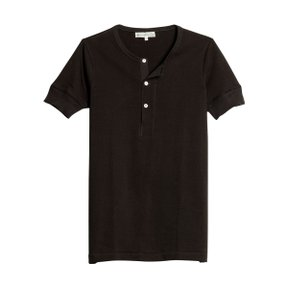 207 HENLEY SHORT SLEEVE CHARCOAL