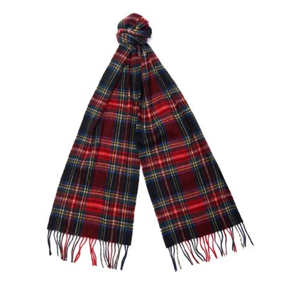 바버 뉴 체크 타탄 머플러 블랙 (Barbour New Check Tartan Scarf) BAI2USC0137BK71