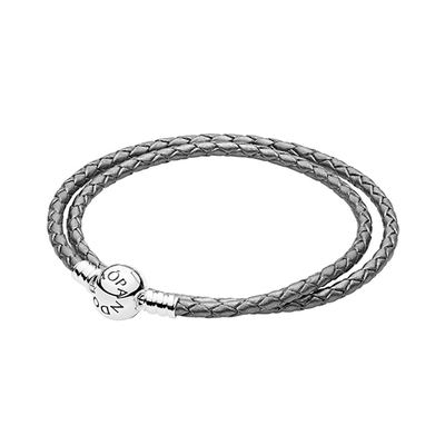 PANDORA 판도라 590745CSG Braided DOUBLE LEATHER 팔찌