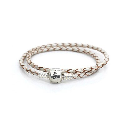 판도라 590705CPL / PANDORA DOUBLE LEATHER BANGLE
