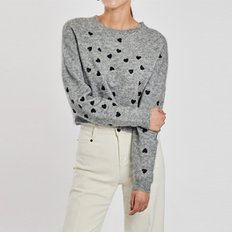 / petit-heart cropped sweater