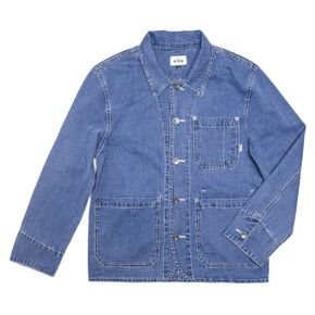 [시즌 오프] [남녀공용] C 2018 Broken Denim Coverall Jacket U Blue