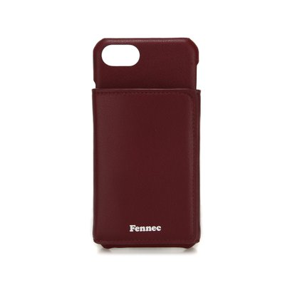 FENNEC LEATHER iPHONE 7/8 TRIPLE POCKET CASE - WINE