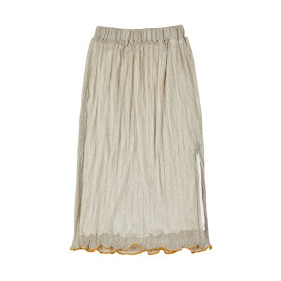 [레이브]Pleated Sparkling Skirt in Sparkling Gold_VW0SS0880