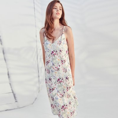 VANESSA POLY DRESS IN BUTTERFLY PRINT