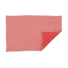 TEA TOWEL H55, White/Red