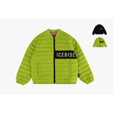 [20% SALE] Icebiscuit color block light down jacket