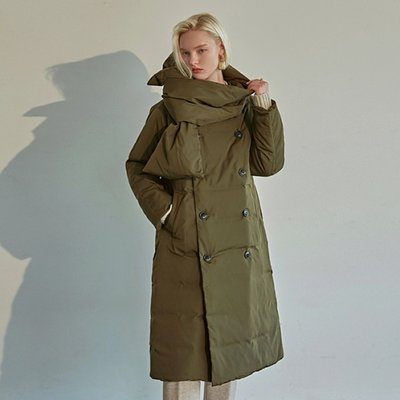 [DEANS] DUCK DOWN LONG PADDING+MUFFLER SET_KHAKI