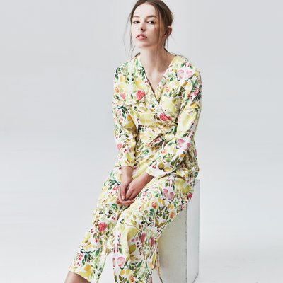 TROPICAL WRAP DRESS (3colors)