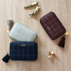 [스트랩증정] D.LAB Check half wallet - 3 color