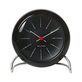 아르네야콥센 Table Clock Bankers Black (43680)