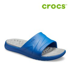 크록스 슬리퍼/205546-43M/ Reviva Slide Blue Jean-Light Grey