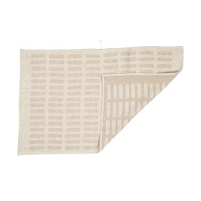 TEA TOWEL SIENA, White/Natural