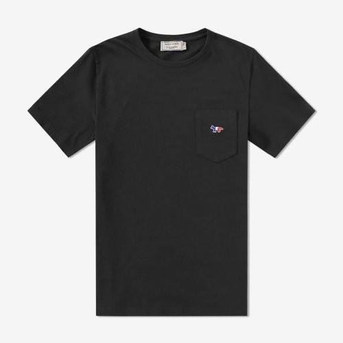 [PRE-ORDER] 20SS TEE-SHIRT TRICOLOR FOX PATCH BLACK MEN AM00102KJ0010