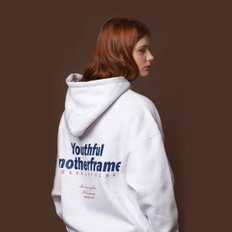 ANOTHER FRAME - FOREVER YOUNG HOODIE (WHITE) 기모 후드 후디 후드티