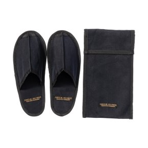 WAXED CANVAS PORTABLE SLIPPER LARGE BLACK