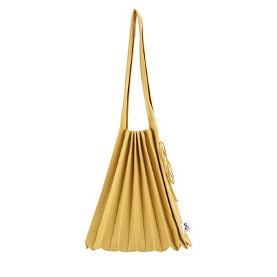 [조셉앤스테이시] Lucky Pleats Knit Warm Crossbag M Old Gold