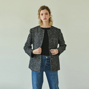 4-pocket  tweed jacket (black)