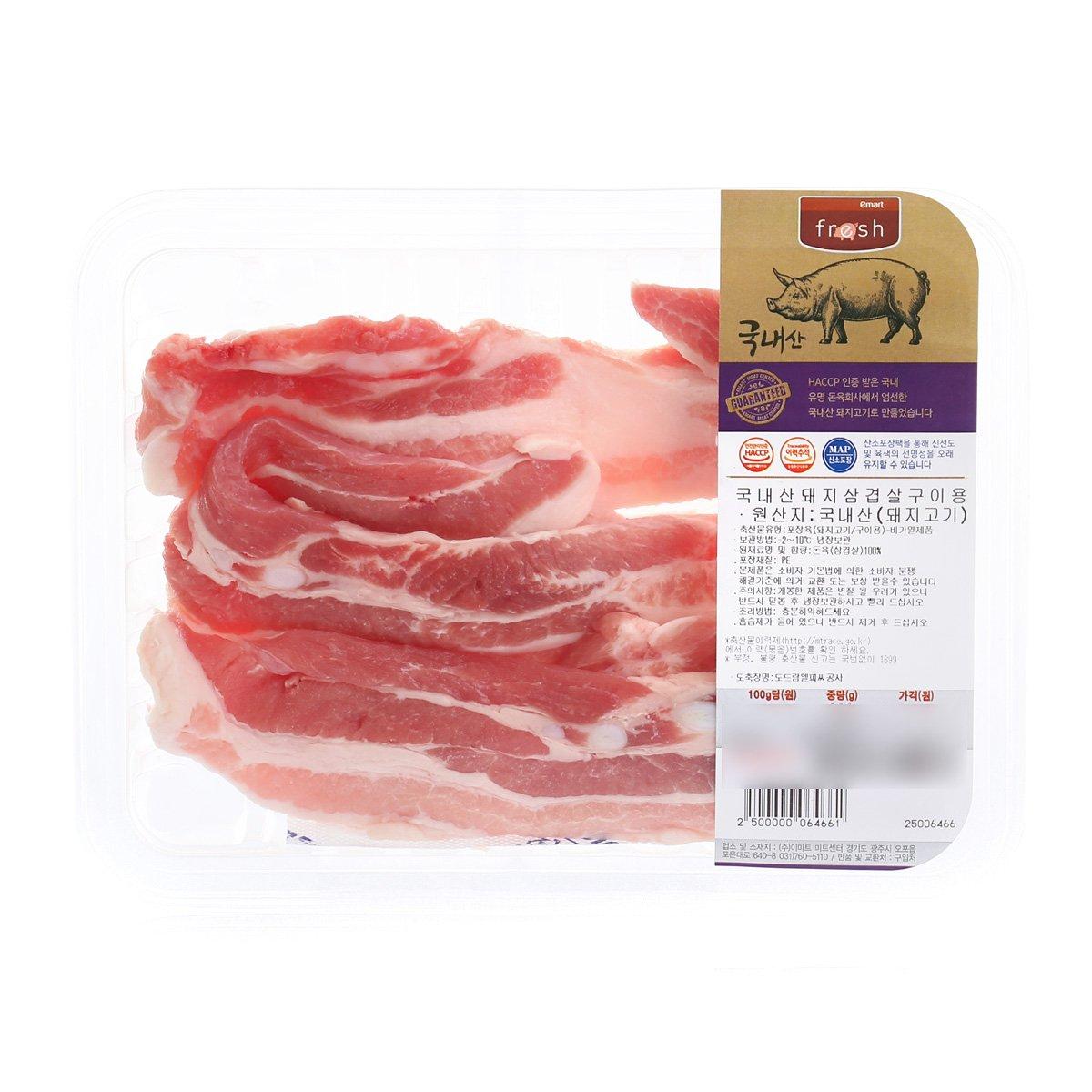 ▲국내산 돼지삼겹살구이용 (300g)