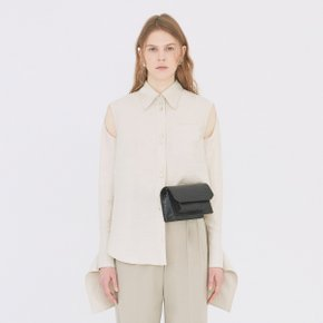 [가브리엘리] 19SS KEYHOLE DETAIL BLOUSE - LIGHT OATMEAL