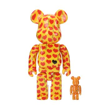 400%+100% BEARBRICK YELLOW HEART